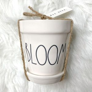 Rae Dunn BLOOM mini plant pot